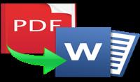 تحويل ملفات PDF الى Word او العكس