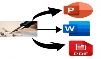 تحويل النصوص اليدوية أو pdf إلى ملفات Word أو شرائح PowerPoint