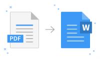 استطيع تحويل ملفك الذي بصيغه pdf الى ملف وورد