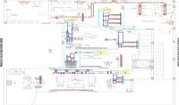 اعداد مخططات التكييف او الصرف الصحي وتغذية المياه او انظمة اطفاء الحريق