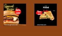 سأصمم لك 3 منشورات لصفحة مطعمك من أجل