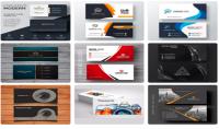 تصميم بطاقة اعمال باللغة العربية او الانجليزية مع امكانية تصميم شعار لبطاقة الاعمال