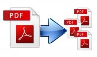 فصل صفحات ملف PDF وتحويله إلى عدة ملفات PDF بناء على طلب الزبون