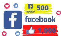 سأضيف 1000 لايك بوست على فيسبوك قابلة للتقسيم  أو 500 معجبين فيسبوك