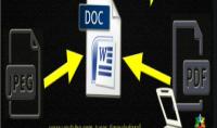 تفريغ ملفات pdf أو صور وتحويلها إلى وورد