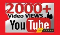 سوف اقدم لك 2000 مشاهدة للفيديو الخاص بك على يوتيوب