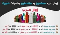 ارسل لك زوار عرب بعدد 2000 زائر يومي لمدة اسبوع
